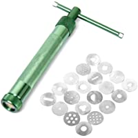 ROSENICE Clay Extruder Polymer Clay Tool Sculpey Sculpting Tool with Interchangeable Disc