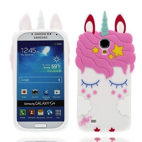 EarthNanLiuPowerTu Samsung Galaxy S4 I9500 Cacasa, Nuevos Animales de Dibujos Animados en 3D Lindos Estrellas io Silicona Blanda Anti-arañazos Funda ...