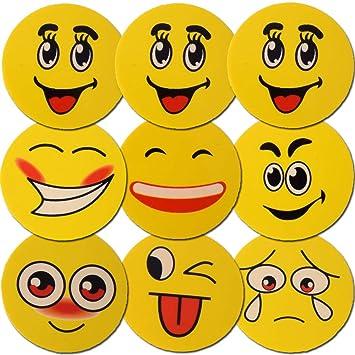 TE-Trend 9 Piezas Goma de borrar Juego Emoji Goma de borrar ...