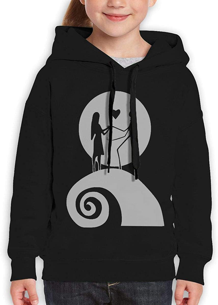 Teen Hooded Sweate Sweatshirt Black Guiping The Nightmare Before Christmas