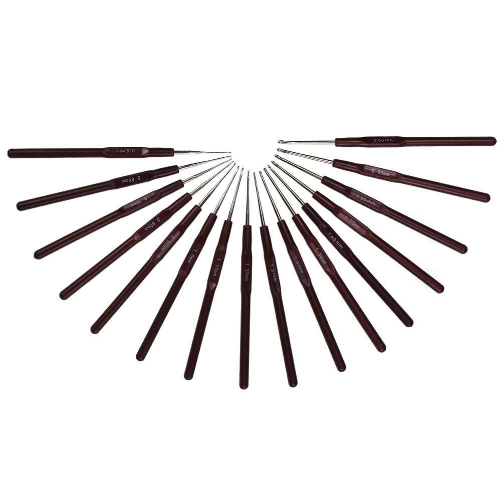 16 Pezzi Ottimo Regalo per Donne Set di Ferri da Maglia Lisci con Manici Morbidi ergonomici per Mani artritiche o Qualsiasi Dolore alla Mano Wuxi Chuannan