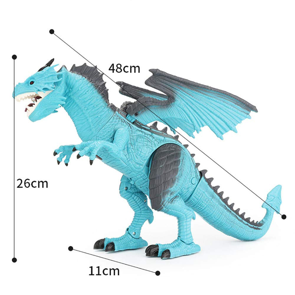 PSFS Remote Control Walking Dinosaur Toy,Fire Breathing Water Spray (Blue) by PSFS (Image #4)