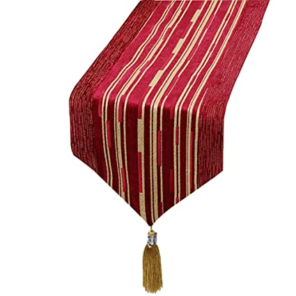 Amazon.com: Table Runner, Tassel, Red Stripes Table Flag ...