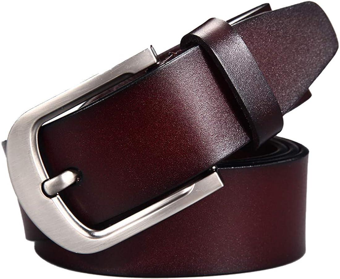 Huicai Mens leather belt waist belt adjustable man belt