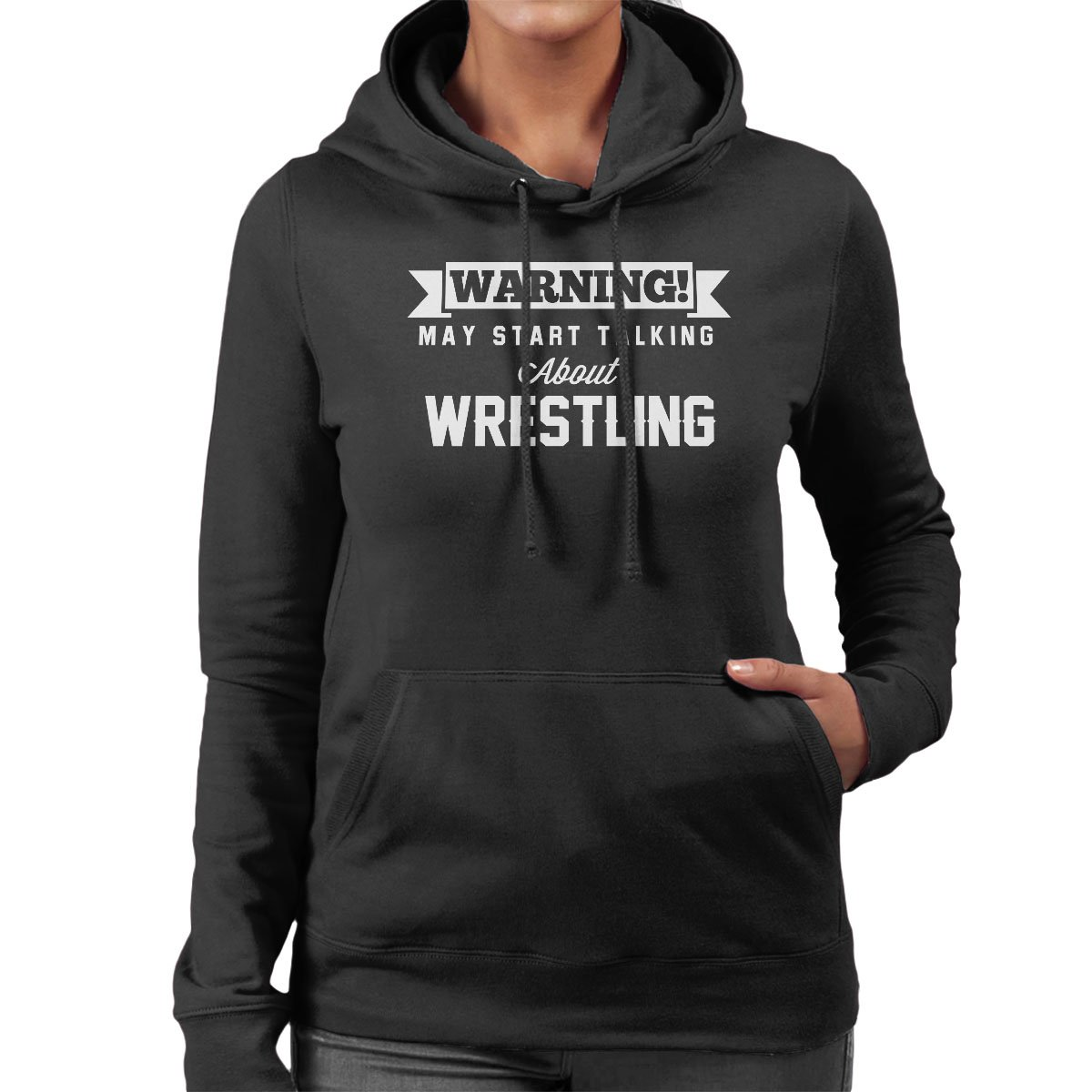 Warning May Start Talking About Wrestling Women's Hooded Sweatshirt by Coto7