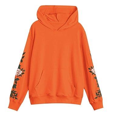 ▽Londony▽ Women s Orange Sweatshirts