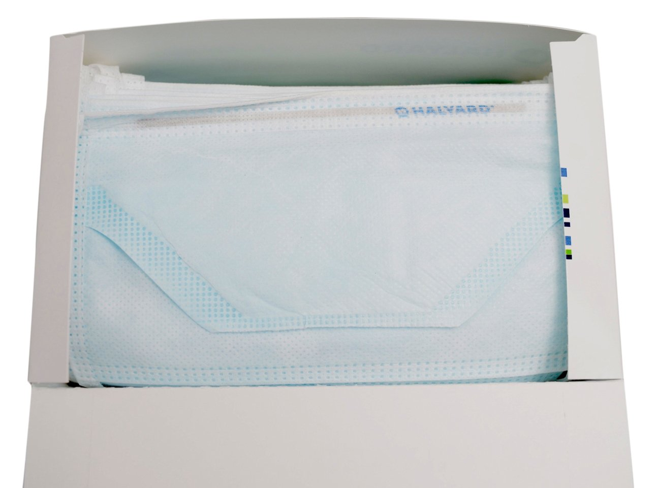 Halyard Health 48220 Halyard Duckbill Surgical Mask, Blue (6 Boxes of 50, 300 Total)