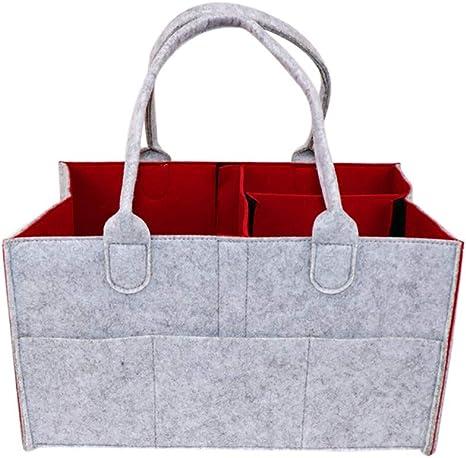 Baby Diaper Wipes Bag Storage Nursery Caddy Bin Infant Nappy Organizer Basket