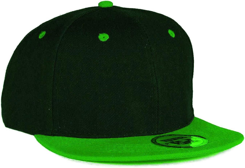 MFAZ Morefaz Ltd Youth Kids Hat Snapback Green Flat Peak Hat Boy Girl Baseball Cap American Twill A-Z