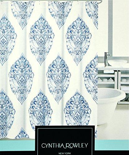Bohemian Style Block Print Shower Curtain