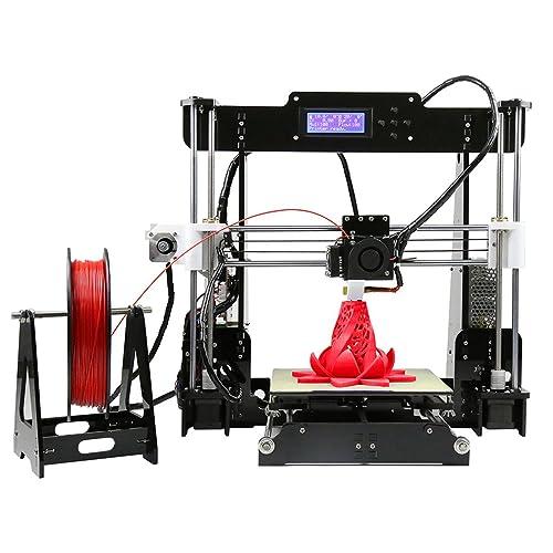 LESHP Impresora 3D (Se puede imprimir PLA y ABS, Kit de piezas para montar)