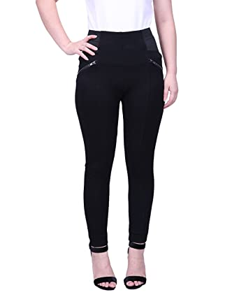 923c3644407 HDE Womens Plus Size Pants Skinny Ponte Knit Leggings Slimming Office  Trousers at Amazon Women s Clothing store