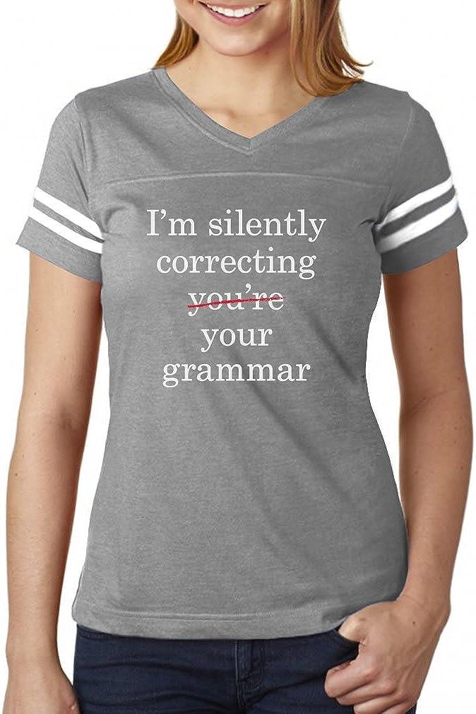 Funny T Shirt Hommes Femmes tee Je suis silencieusement corriger votre grammaire