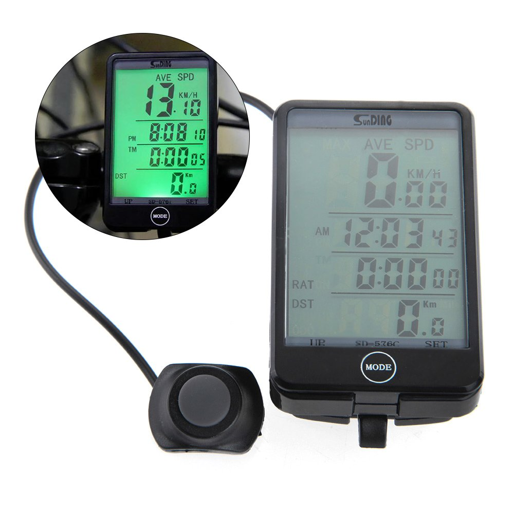 29 Function Wireless Bike Computer Bicycle Meter Display SPD/ODO/DST Riding Test Checklist Speed Meter Bicycle Training Equipment Easy Install and Setting Waterproof Sport Gifts Idea BKI12