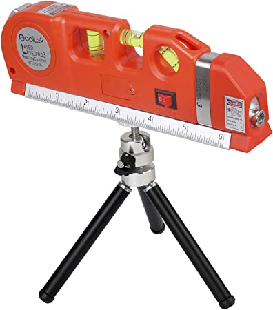 Tape Measure With Laser /& Level Complete With Mini Tripod