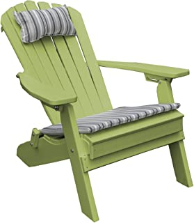 product image for Poly Folding and Reclining Fanback Adirondack Chair - Tropical Lime