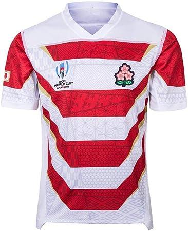FWHACMT Camiseta de Rugby Japonesa para Hombre World Cup 2019 Camiseta de Entrenamiento de Rugby, Camisa Deportiva Ropa Deportiva De FúTbol,S: Amazon.es: Hogar