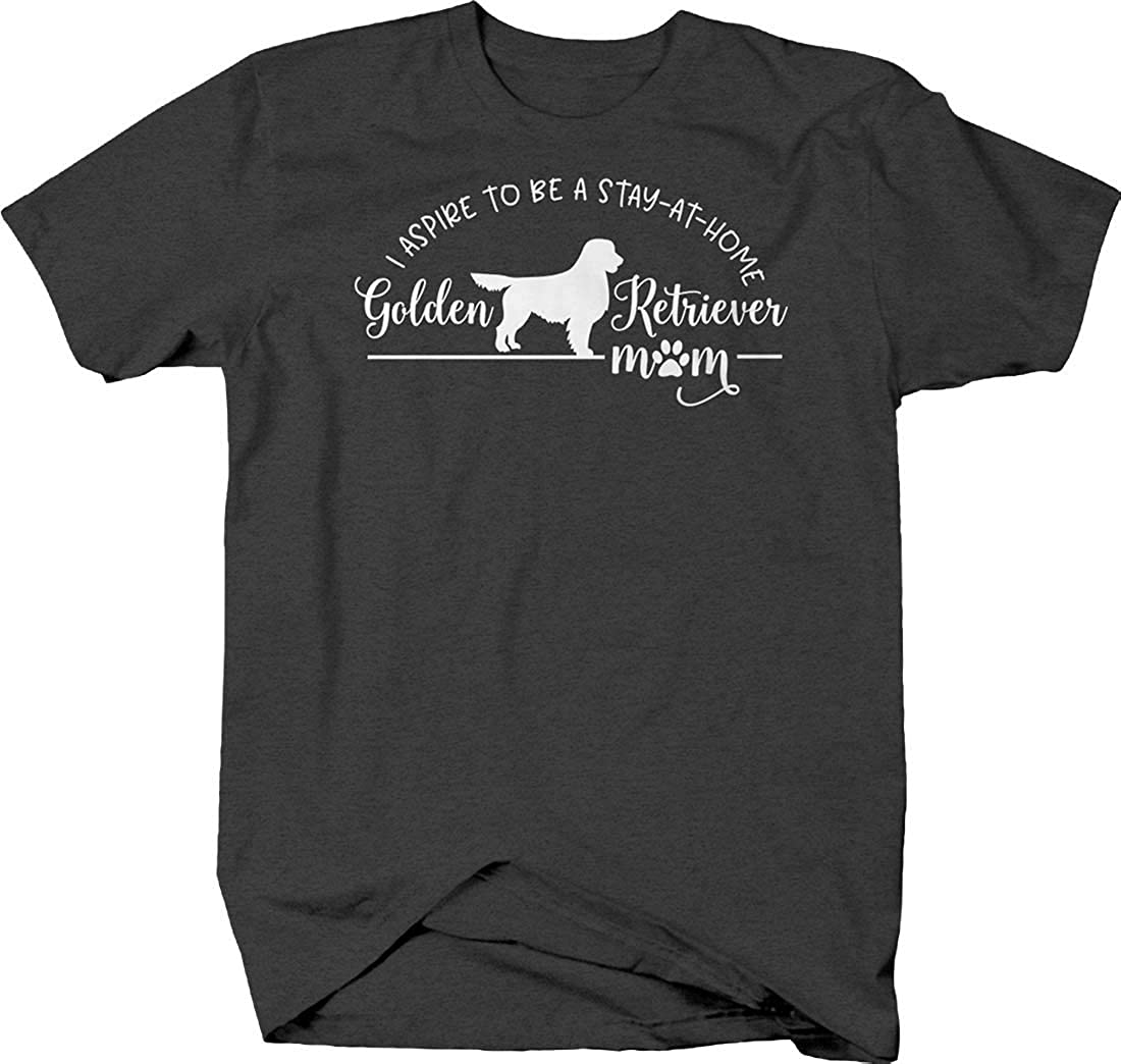 I Aspire to be a Stay at Home Golden Retriever mom paw Print Dogs T Shirt for Men
