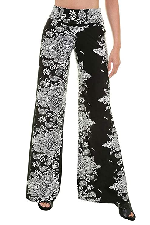 12c22312795 NioBe Clothing High Waisted Womens Long Wide Leg Palazzo Pants at Amazon  Women s Clothing store
