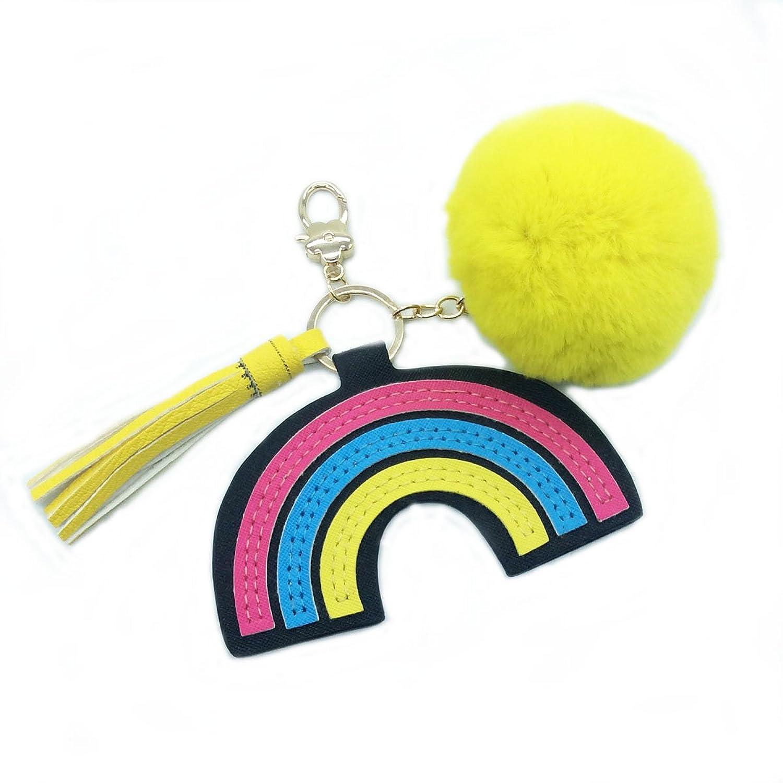 Handmade Tassels Rainbow Key Chains Bag's Charms Women's Handbag Accessories