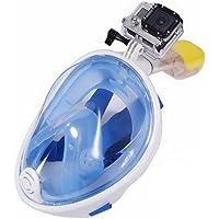 UniqStore Máscara de Buceo panorámico Completo diseño Facial Anti-fogging & Anti-Escape máscara de Snorkel máscara para Adultos y jóvenes