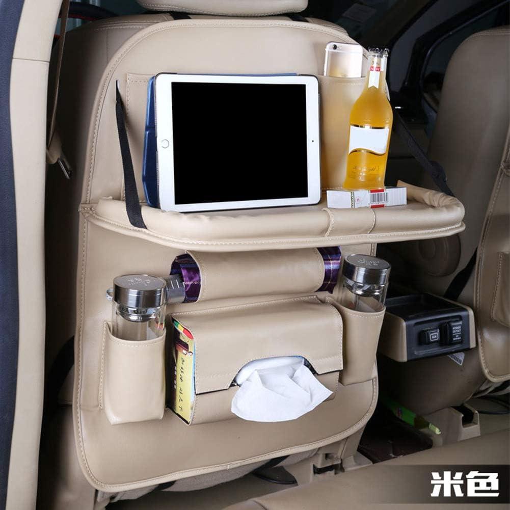 FBARTL accesorio para maletero de piel sint/ética artificial Organizador de asiento trasero de coche plegable