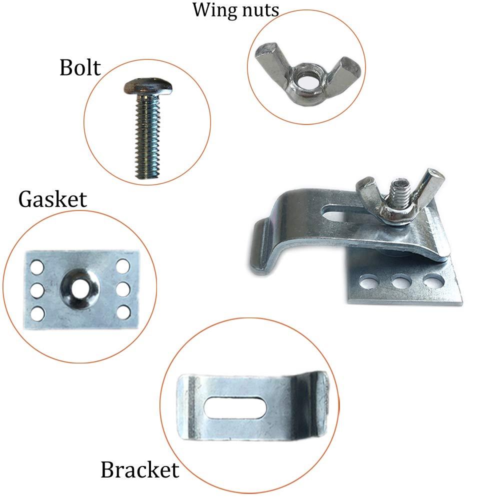 Sink Clips Undermount Kitchen Sink Clips Epoxy Undermount Sink Brackets Supports for Bathroom Kitchen 10 Pack Kit LITOON