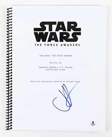 j j abrams signed star wars the force awakens full movie script