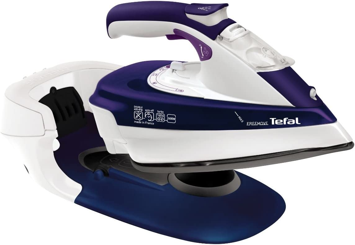 Tefal FV9966 Freemove - Plancha sin cable, 2600 W, color azul y blanco