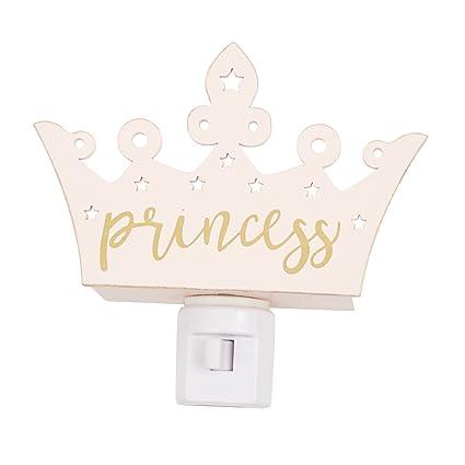 Amazon.com: Mud Pie Madera Princesa Corona Nursery luz ...