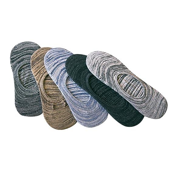ishine 5 Pares Calcetines Invisibles Mujer de Algodón Calcetines Cortos con Antideslizante