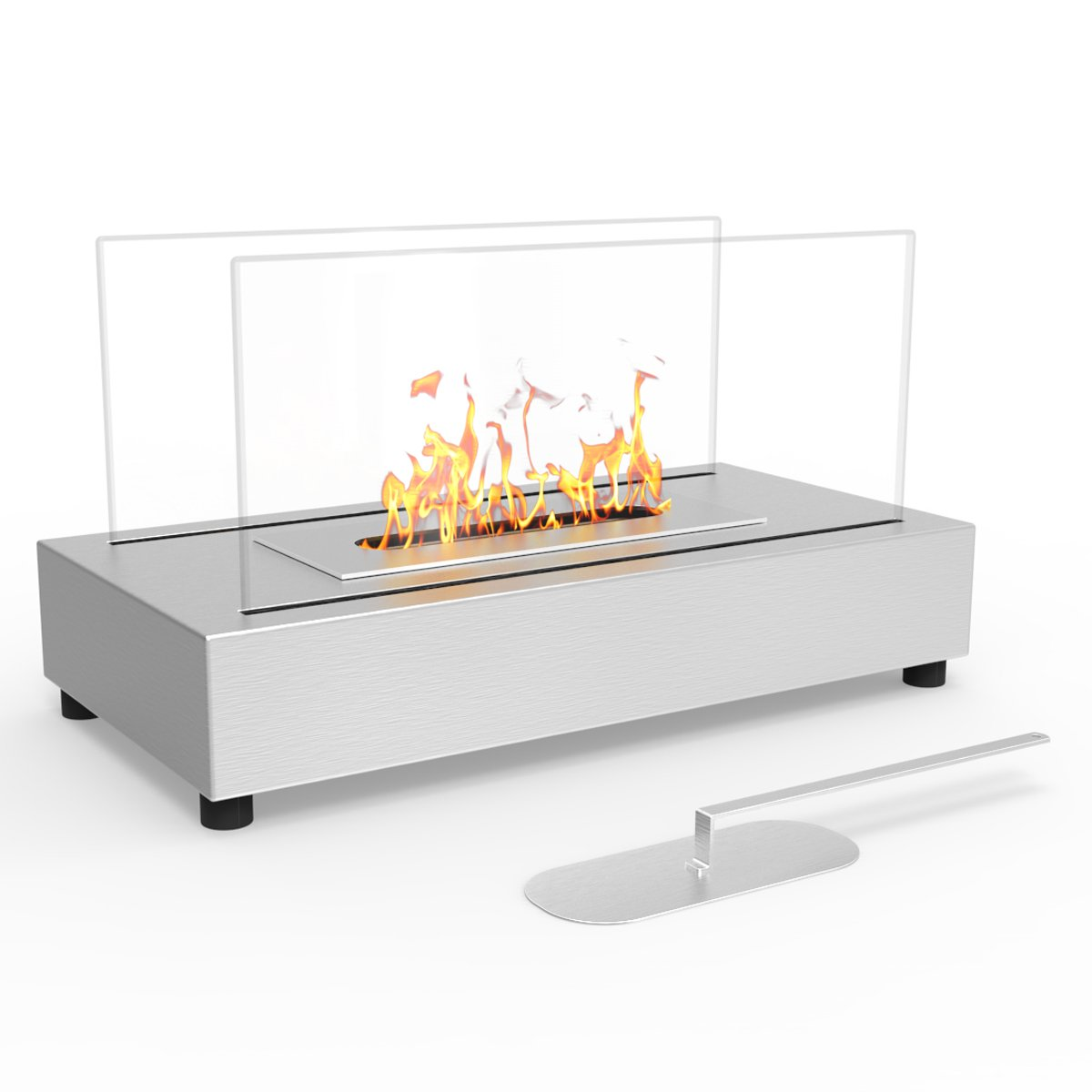 Regal Flame Avon Tabletop Portable Bio Ethanol Fireplace in Stainless Steel by Regal Flame