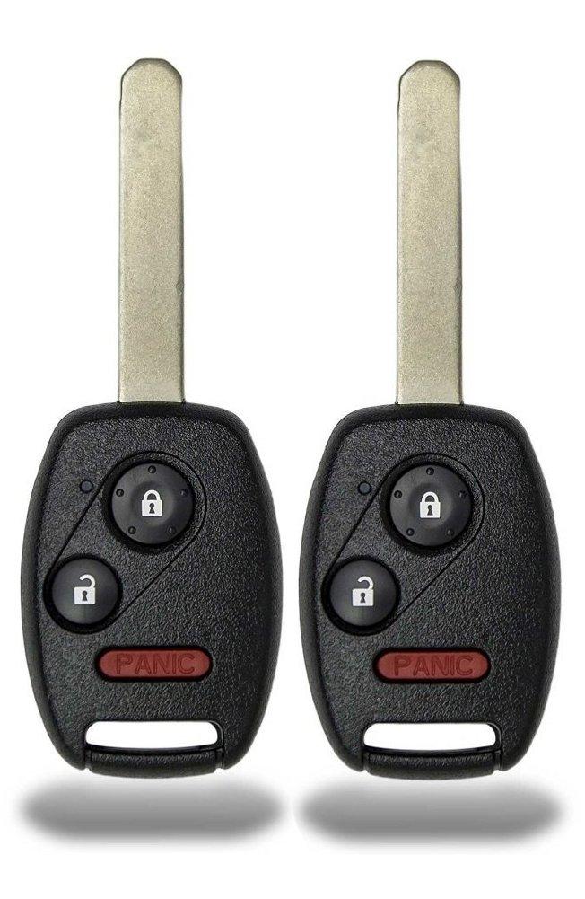 KeylessCanada © 2 New Keyless Entry 3 Button Remote Start Car Key Fob For Honda Civic Odyssey N5F-S0084A