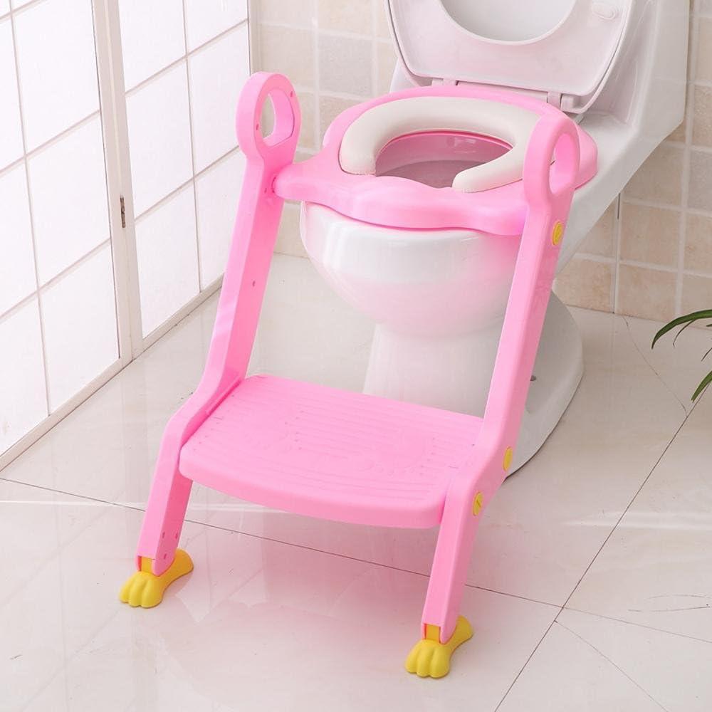 Longless bebé tocador de los niños sentados silla plegable aseo niño sentado regazo asiento del inodoro: Amazon.es: Hogar