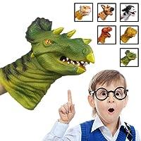 [Triceratops]Dinosaur Hand Puppet, Bagvhandbagro Soft Rubber Hand Puppet Perfect Gift for Kids
