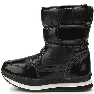 Amazon.com   New Black Shiny Waterproof Winter Snow Warm Womens ...