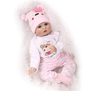 Amazon.com: JUNMAO - Muñeca de bebé realista de 22 pulgadas ...