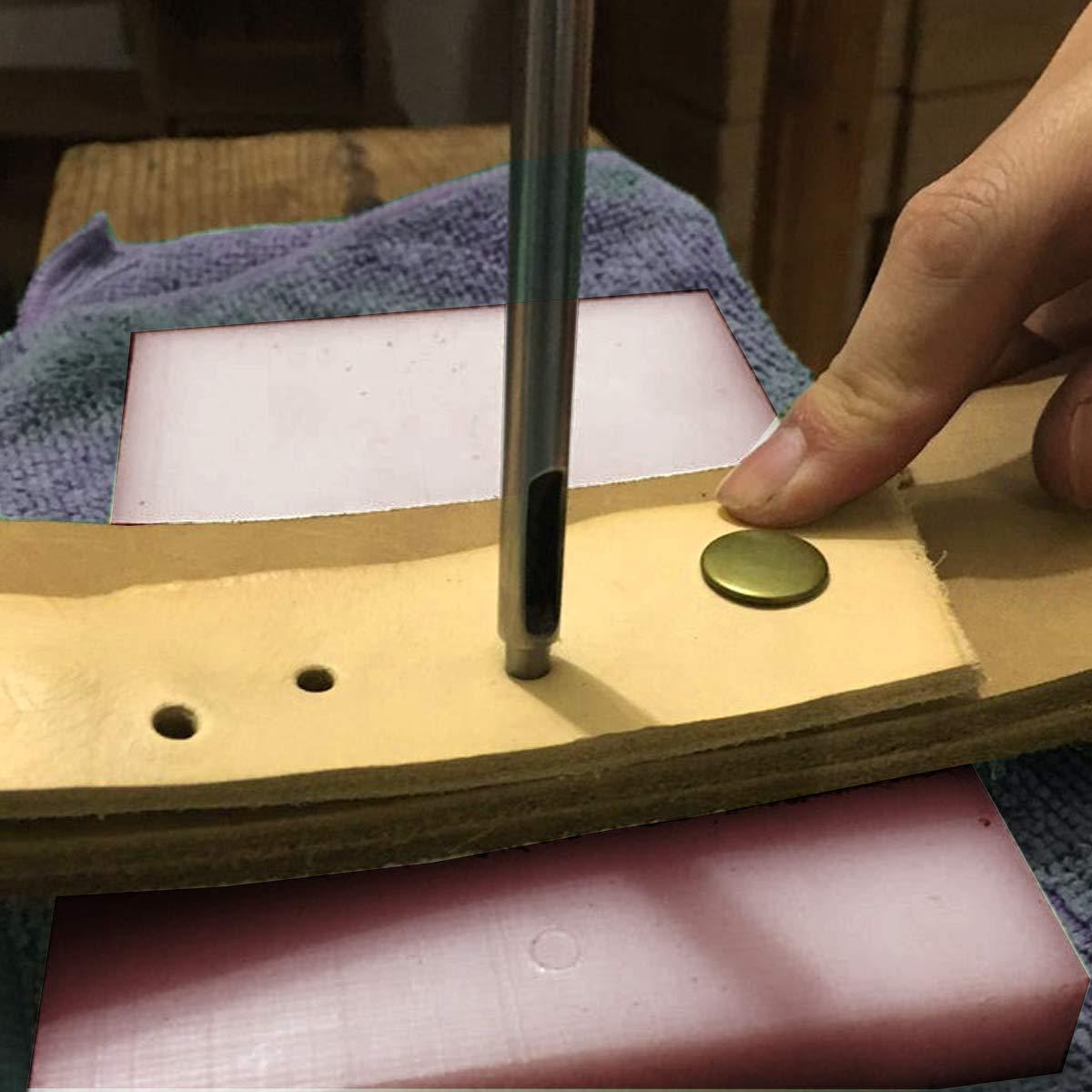 acero 19 mm Weddecor Hollow Hoja de metal de acero s/ólido de piel perforadora de papel resistente cuero sint/ético Junta de goma fina de lat/ón Tack cortadores de herramientas perforadora
