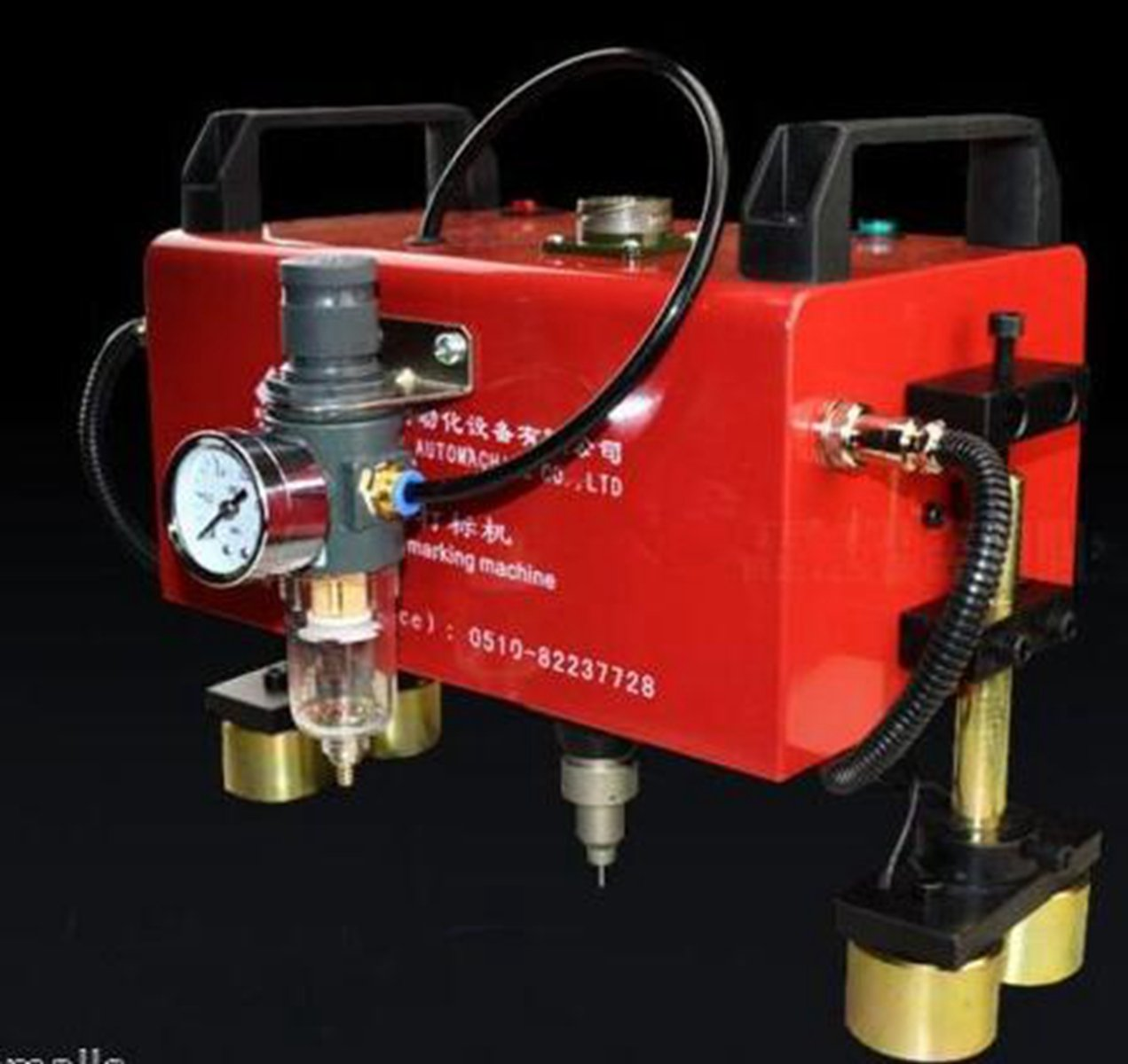 Welljoin Portable Metal Marking Pneumatic Dot Peen Marking Machine 15050mm