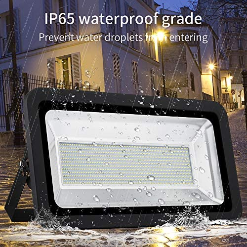 Ankishi 500W Flood Light Outdoor,3000K Warm White,40000LM Super Bright Outdoor Flood Light,IP65 Waterproof Outdoor Led Flood Light for Garden,Playground,Basketball Court,Lawn and Yard