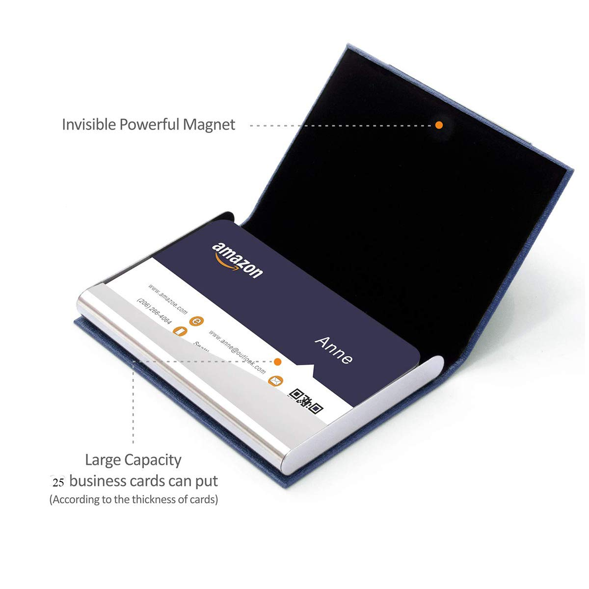 Bestbling Bling Pure Handmade Bling Bling strass in acciaio inossidabile porta biglietti nome card case Ingots