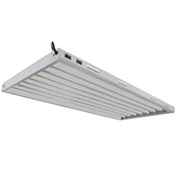 vivosun 4ft 8 lamp t5 ho fluorescent grow light fixture ul listed high output