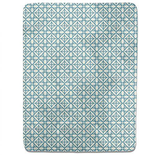 Moorish Tiles Fitted Sheet: King Luxury Microfiber, Soft, Breathable by uneekee