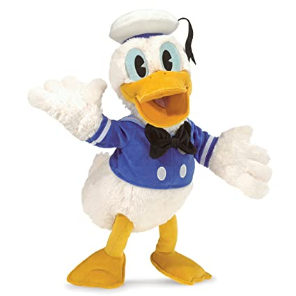 amazon com folkmanis donald duck character hand puppet toys games