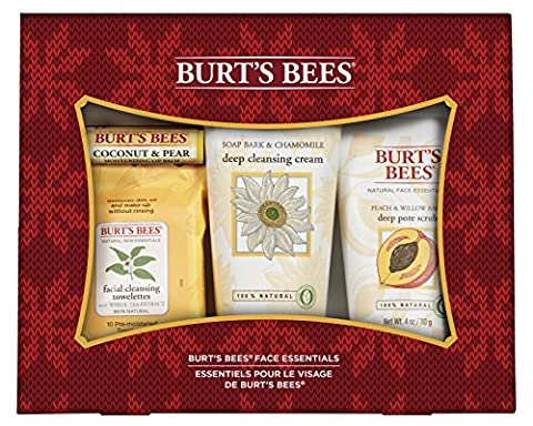 Burt's Bees Face Essentials Holiday Gift Set, 4 Products in Gift Box (Scrubs Season Four)