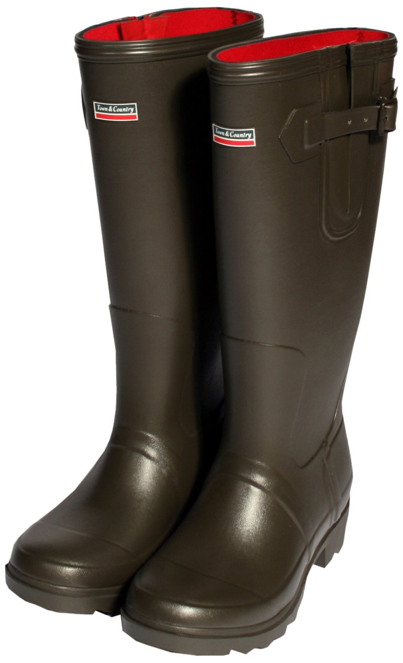 Town & Country Town & Country TFW2521 The Rutland Neoprene Lined Wellington Boot UK Size 4 - Botas para hombre marrón chocolate UK Size 4