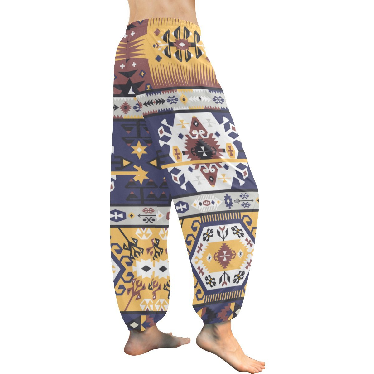 African Art Tribal Print Womens Yoga Harem Pants
