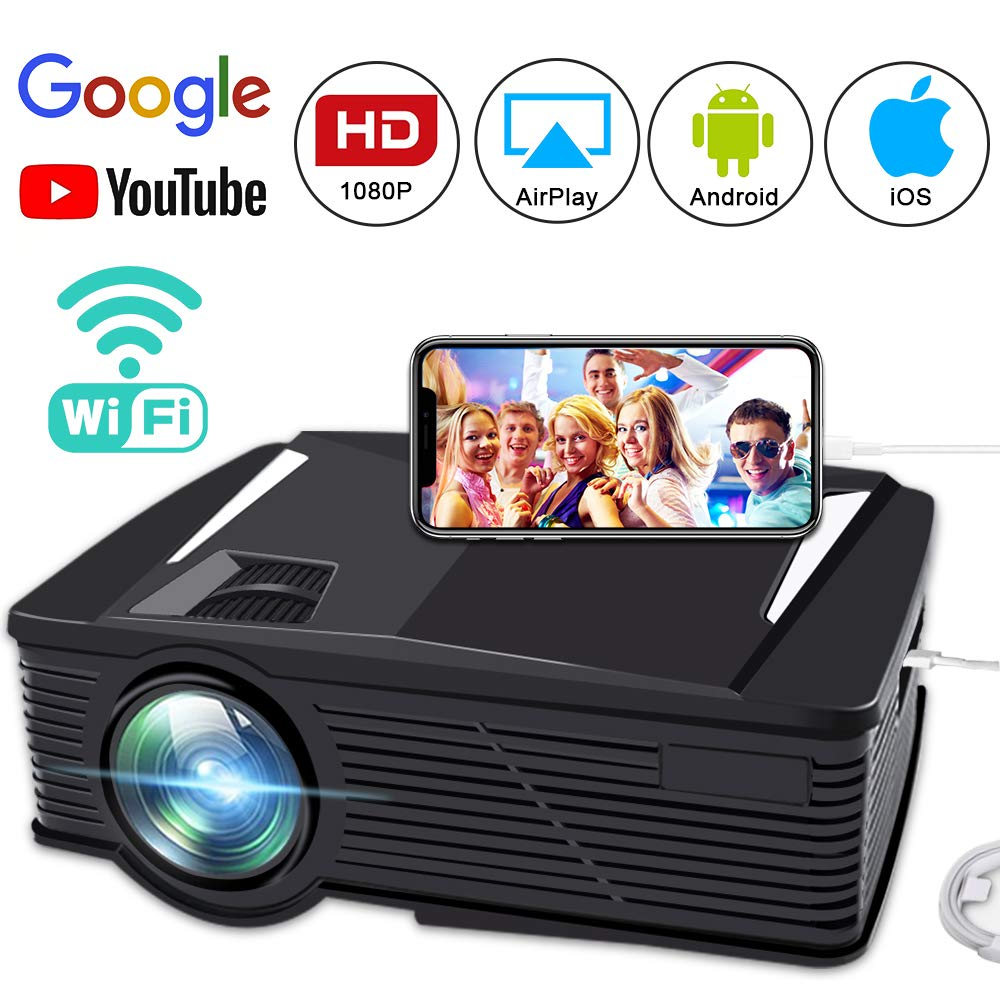 HdDirectly Android 000 Movie Projector1080p Led 2800 Mini Video Hours LumenFaersi Wifi Projector Full With Iphone50 Wireless Connect PZwiTklOXu