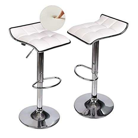Wondrous Fullwatt Adjustable Swivel Bar Stools Pu Leather Backless Bar Stools Set Of 2 Kitchen Stools Counter Height Machost Co Dining Chair Design Ideas Machostcouk