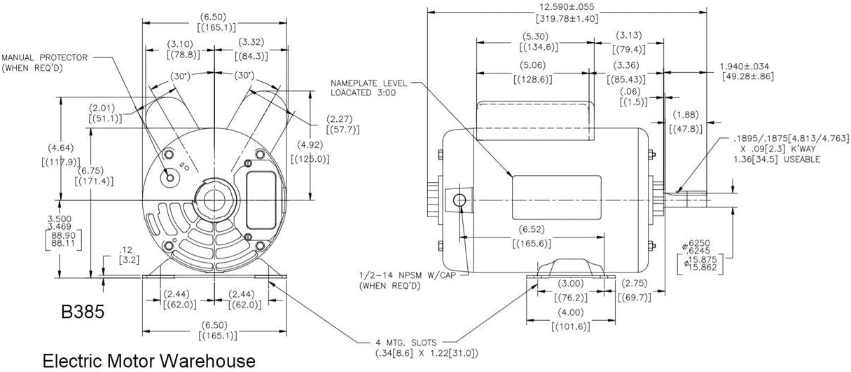 emerson electric motors wiring diagrams 3 phases amazon com 5 hp spl 3450rpm p56 frame 230 volts replacement air  5 hp spl 3450rpm p56 frame 230 volts